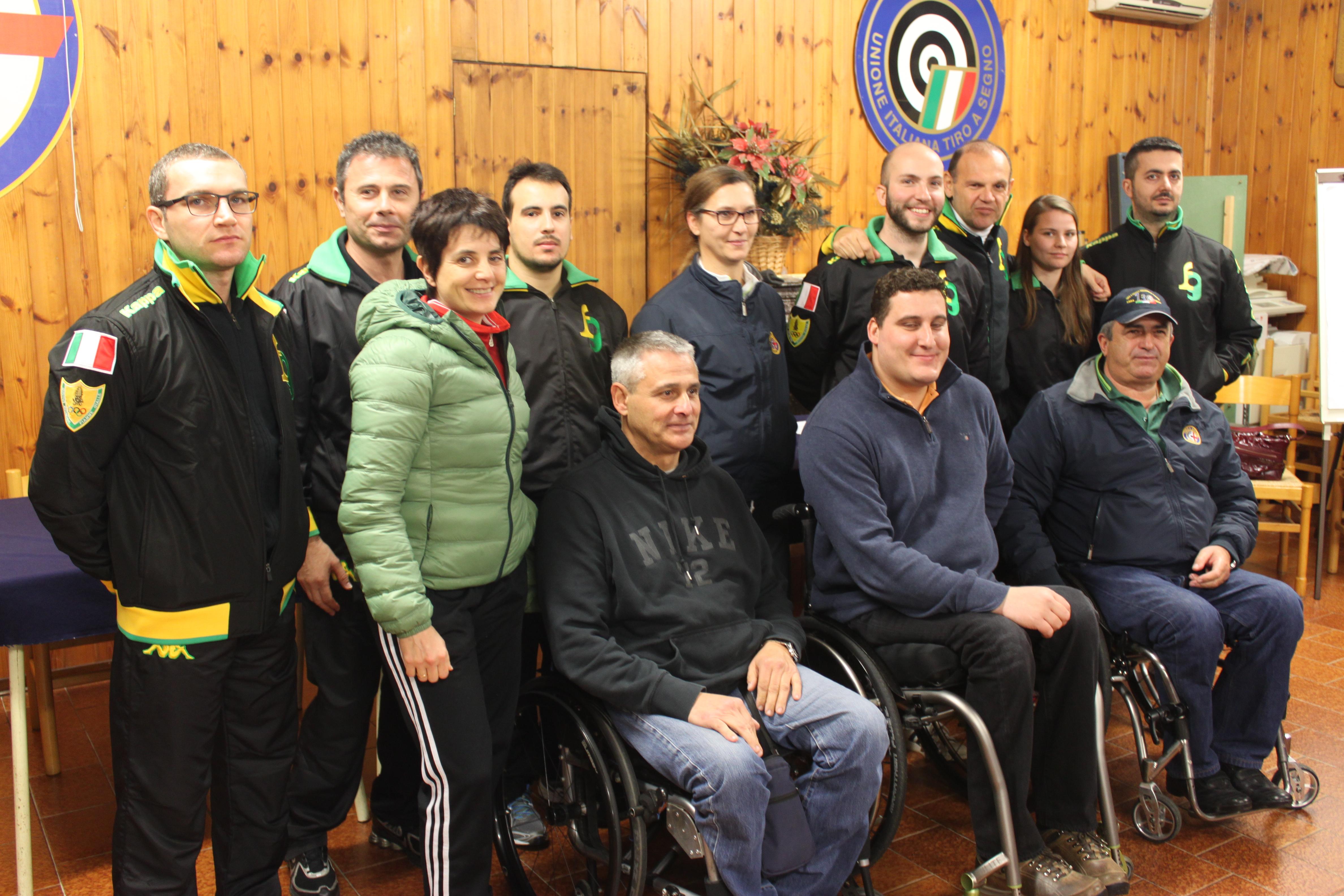 A Padova Niccolò Campriani e lo staff tecnico azzurro incontrano gli atleti della nazionale  disabili