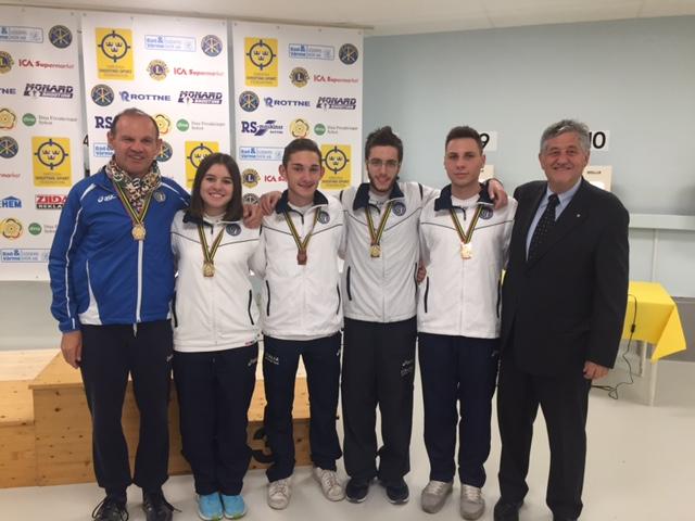 Finale European Youth League: le pistole azzurre conquistano l'argento