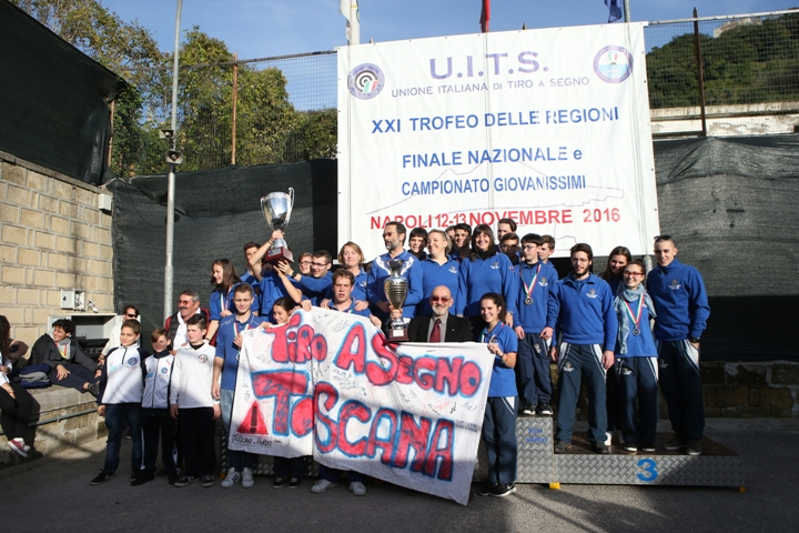 La Toscana si aggiudica il Trofeo delle Regioni 2016